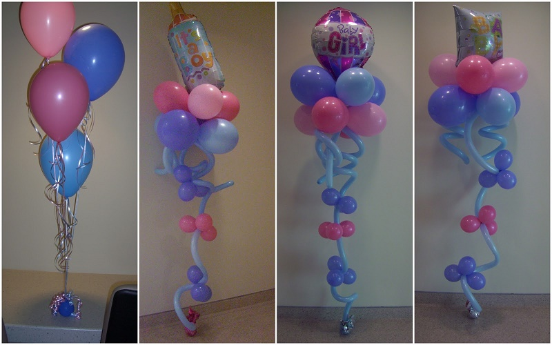 baby shower with balloons
