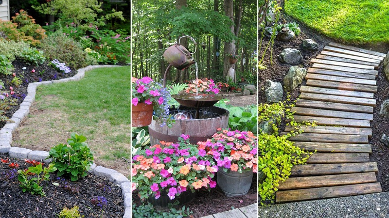 how to make your garden look nice with no money