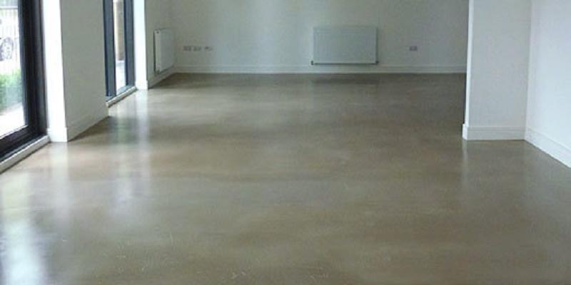 Smooth cement floor