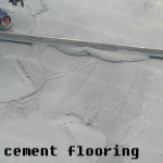 Smooth cement floor