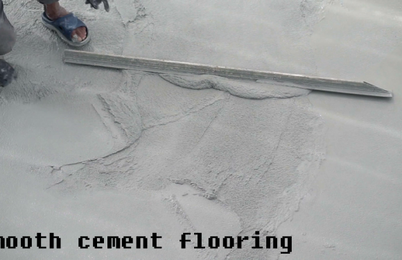 Smooth cement floor: How to repair it yourself