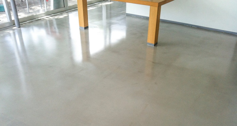 smoothed cement floors
