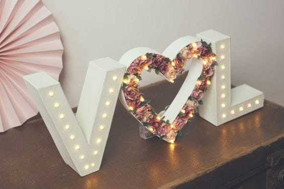 letters with your favorite flowers