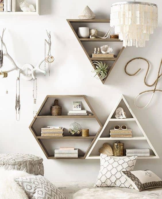 geometric shaped shelf