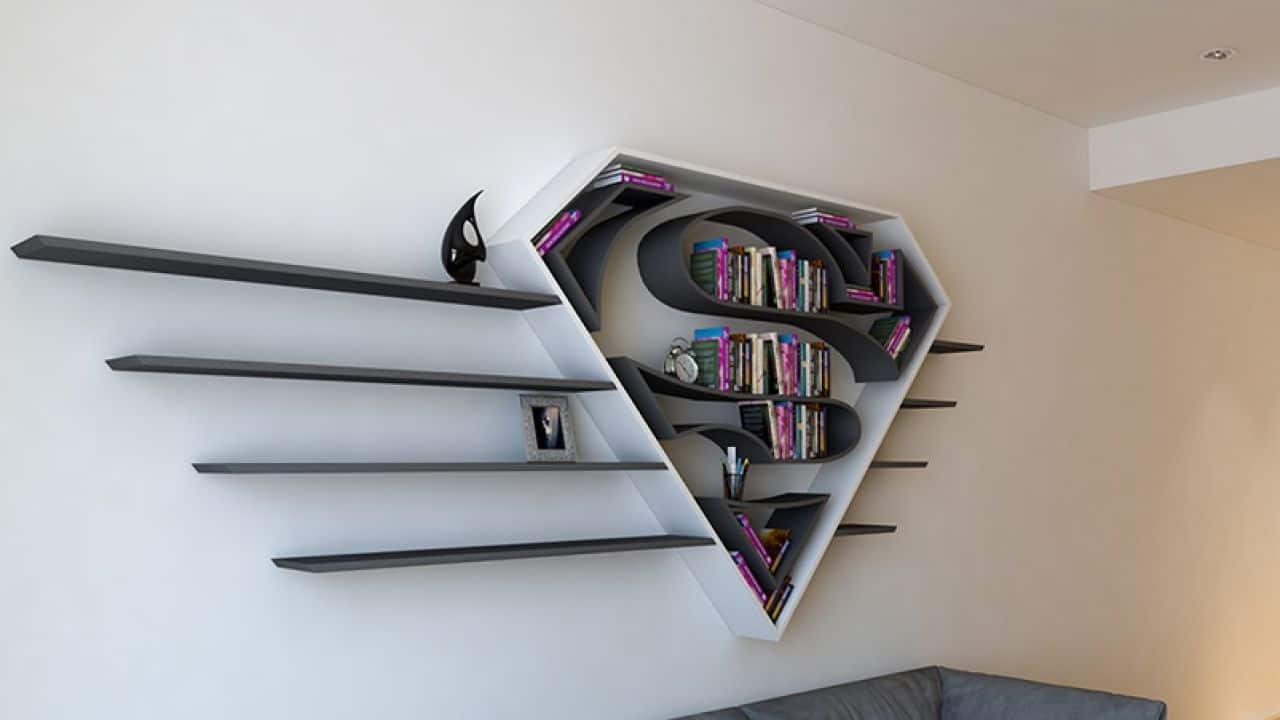 themed wooden shelves