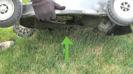 lower side of the mower
