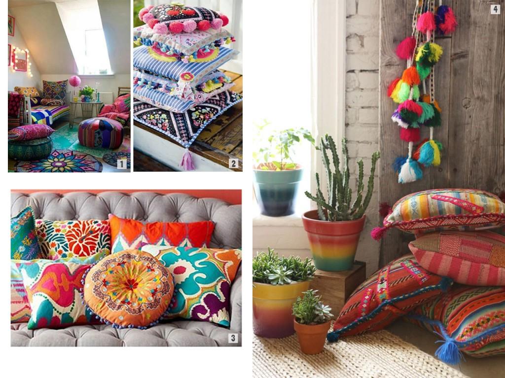 Abundant use of textiles