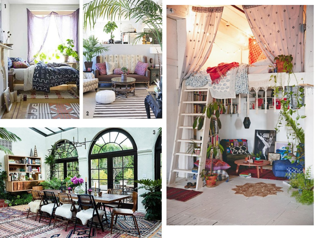 Nature at home for a boho chic decoration