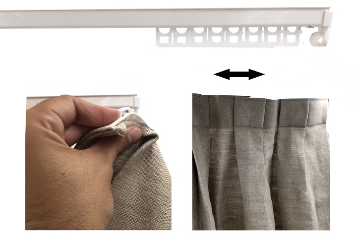 How to hang curtains with hooks