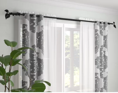 how to hang double curtains