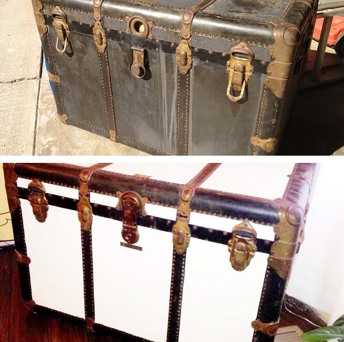 Give beauty to an old wooden trunk