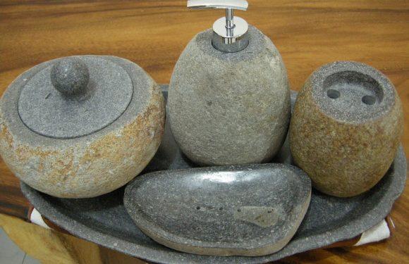 Grey Stone Bathroom Accessories