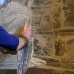 How to remove stains from a slate floor