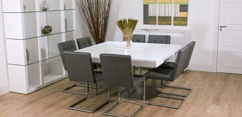 Modern Square Dining Table For 8