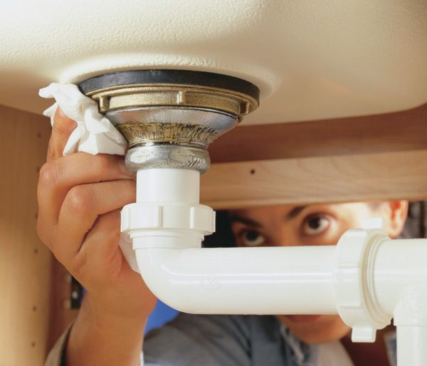 how to clean kitchen sink drain pipe