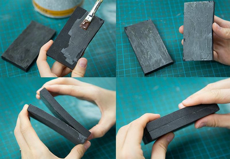 how to glue eva foam