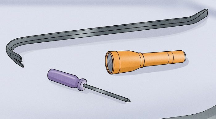 How to open a trunk with a screwdriver?