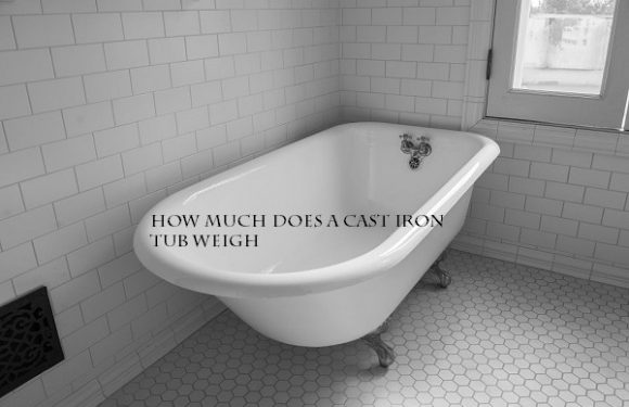 How much does a cast iron tub weigh?
