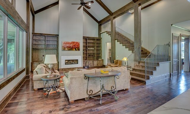 How do you heat a large room with high ceilings