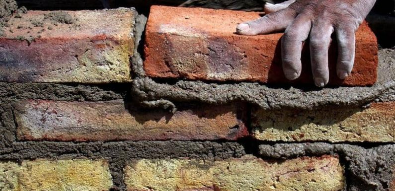 How long to let mortar set?